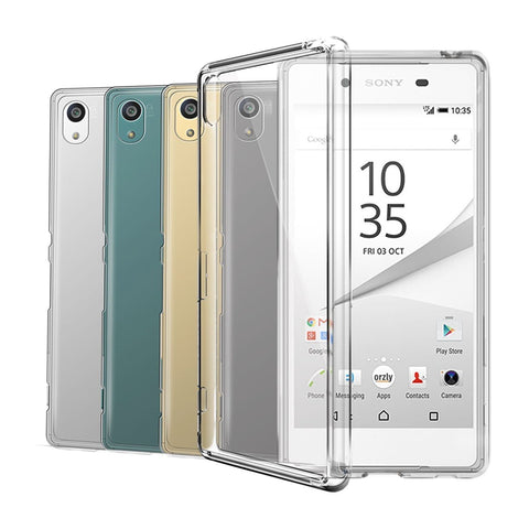 Clear Transparent Silicone Case For Sony Xperia Phones