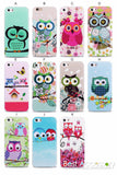 Owl Design Cases For iPhone 4, 4S, 5, 5S, 5C, SE, 6, 6S, 6 Plus, 6S Plus, 7, 7 Plus