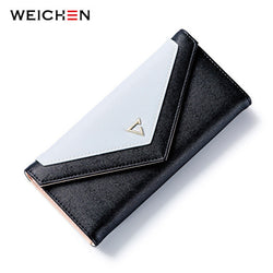 WEICHEN Geometric Design PU Leather Women's Wallet Purse