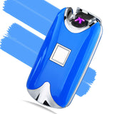 Fingerprint Recognition USB Rechargeable Plasma Lighter with Double Arc Pulse