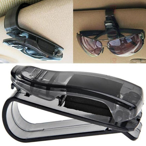 Car Sun Visor Sunglasses Clip Storage Holder