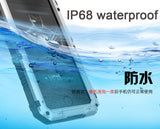 Waterproof IP68 Aluminium Metal Armour Case For iPhone 6, 6 Plus, 6S, 6S Plus, 7, 7 Plus, 8, 8 Plus, X