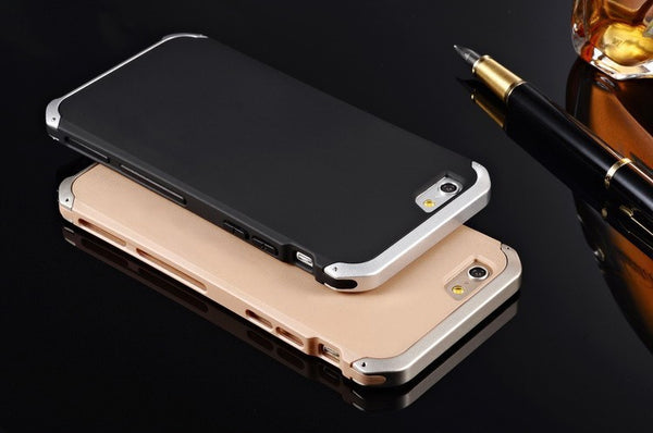 Aluminium & Silicone Case For iPhone 5, 5S, 5C, SE, 6, 6 Plus, 6S, 6S Plus, 7, 7 Plus, 8, 8 Plus, X