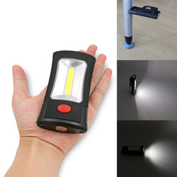 Magnetic Base COB LED Flashlight With Folding Hook