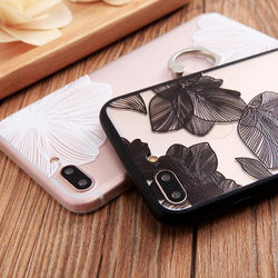 Flower Ring Grip Case for iPhone 6, 6 Plus, 6S, 6S Plus, 7, 7 Plus, 8, 8 Plus