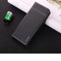GEBEI Genuine Leather Magnetic Flip Wallet Case for iPhone 6, 6 Plus, 6S, 6S Plus, 7, 7 Plus, 8, 8 Plus, X, XR, XS, XS Max