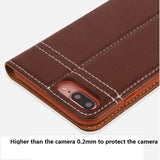 GEBEI Genuine Leather Magnetic Flip Wallet Case for iPhone 6, 6 Plus, 6S, 6S Plus, 7, 7 Plus, 8, 8 Plus, X, XR, XS, XS Max, 11, 11 Pro, 11 Pro Max
