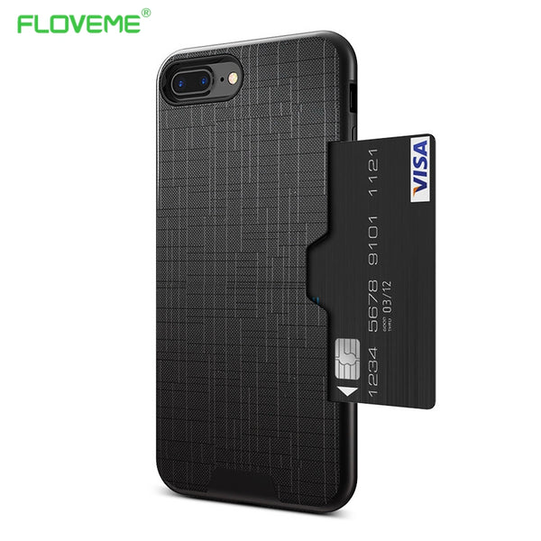 FLOVEME Slim Side Wallet Case For iPhone 6, 6 Plus, 6S, 6S Plus, 7, 7 Plus, 8, 8 Plus, X, XR, XS, XS Max