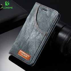 FLOVEME Denim Pocket Phone Case for iPhone 6, 6 Plus, 6S, 6S Plus, 7, 7 Plus, 8, 8 Plus