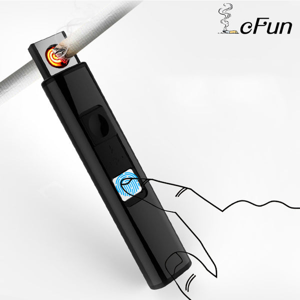 IcFun USB Rechargeable Light and Thin Metal Plasma Lighter