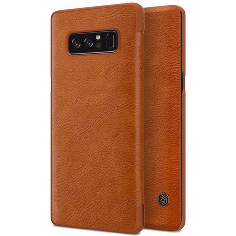 Nillkin Qin Series PU Leather Flip Wallet Case For Samsung Galaxy Note 8