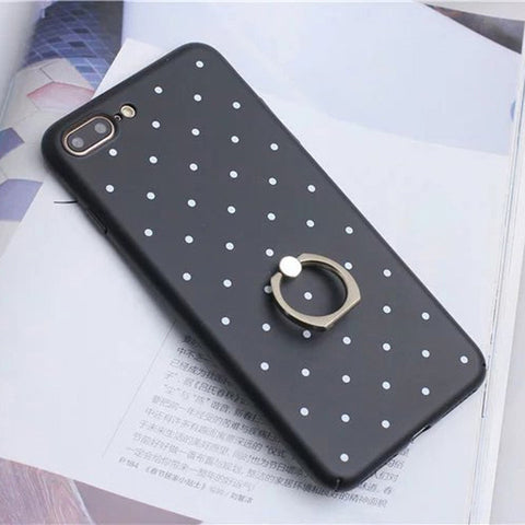 LACK Dot-Point Ring Grip Case for iPhone 7, 7 Plus, 8, 8 Plus