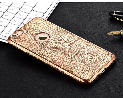 3D Crocodile Print Case For iPhone 5, 5S, 5C, SE, 6, 6 Plus, 6S, 6S Plus, 7, 7 Plus, 8, 8 Plus
