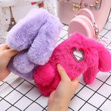 Cute Soft Fluffy Fur Rabbit Case For Samsung Galaxy Phones Case