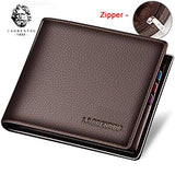 Laorentou 100% Genuine Leather Stylish Compact Men's Wallet
