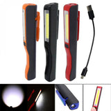 Portable USB Rechargeable Magnet COB LED Torch Plus Flashlight