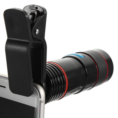 12x Optical Zoom Lens Telescope Clip-on Phone Camera Lens
