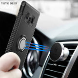 YOYO DEER Hybrid Shockproof Ring Grip Magnetic Car Holder Case For Samsung Galaxy Note 8