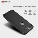 Brushed Carbon Fibre Case for OnePlus 3, 3T, 5, 5T, 6