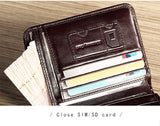 ManBang Genuine Leather Compact Men's Wallet