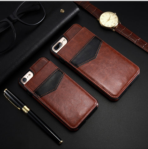 KISSCASE Leather Vertical Flip Pouch Wallet Case for iPhone 6, 6 Plus, 6S, 6S Plus, 7, 7 Plus, 8, 8 Plus, X, XR, XS, XS Max, 11, 11 Pro, 11 Pro Max, 12 Mini, 12, 12 Pro, 12 Pro Max