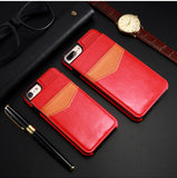 KISSCASE Leather Vertical Flip Pouch Wallet Case for iPhone 6, 6 Plus, 6S, 6S Plus, 7, 7 Plus, 8, 8 Plus, X