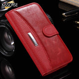 KISSCASE Business Emblem Magnetic Flip Wallet Case for iPhone 5, 5S, 5C, SE, 6, 6 Plus, 6S, 6S Plus, 7, 7 Plus, 8, 8 Plus, X