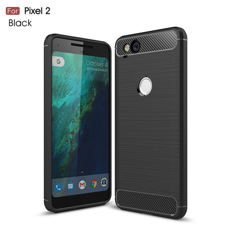 Brushed Carbon Fibre Case For Google Pixel 2 and 2 XL
