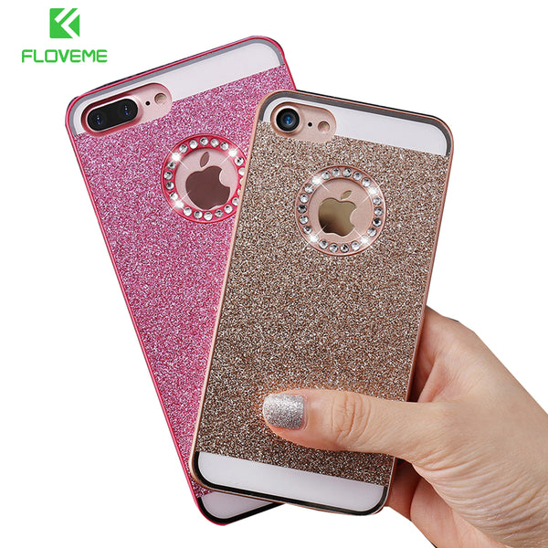FLOVEME Shiny Glitter Bling Case For iPhone 4, 4S, 5, 5S, 5C, SE, 6, 6S, 6 Plus, 6S Plus, 7, 7 Plus, 8, 8 Plus