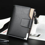 baellerry Men's Leather Wallet with Zipper