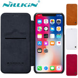 Nillkin Qin Series PU Leather Flip Wallet Case For iPhone 6, 6 Plus, 6S, 6S Plus, 7, 7 Plus, 8, 8 Plus, X