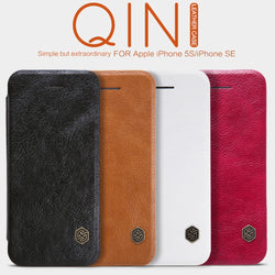 Nillkin Qin Series PU Leather Flip Wallet Case For iPhone 5, 5S, 5C, SE
