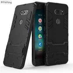 BYHeYang Armour Kick-stand Case For LG V30