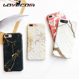 Hard Plastic Marble Case for iPhone 6, 6 Plus, 6S, 6S Plus, 7, 7 Plus, 8, 8 Plus, X