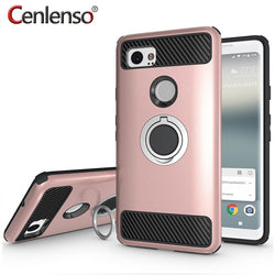Cenlenso Armour Magnetic Ring Grip Case for Google Pixel 2, Pixel 2 XL