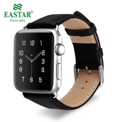 Eastar Genuine Leather Strap Band for Apple Watch Series 1, 2, 3, 4, 5