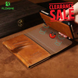 FLOVEME Luxury Business Leather Magnetic Double Flip Wallet Case for iPhone 6, 6 Plus, 6S, 6S Plus, 7, 7 Plus, 8, 8 Plus, X