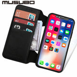 Musubo Luxury Leather Case With Detachable Flip Wallet and Screen Protector For iPhone 6, 6 Plus, 6S, 6S Plus, 7, 7 Plus, 8, 8 Plus, X, XS