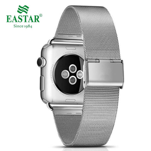 Eastar Stainless Steel Milanese Loop Strap Band with Double Buckle for Apple Watch Series 1, 2, 3, 4
