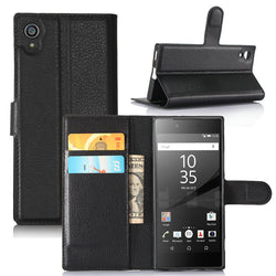 Magnetic Leather Flip Wallet Case For Sony Xperia XA1, XA1 Ultra, XA1 Plus, XA2, XA2 Ultra