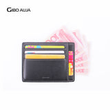 Gibo Auja Super Compact Genuine Leather Men's Wallet