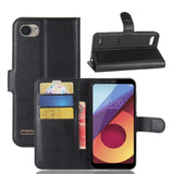 Magnetic Leather Flip Wallet Case For LG Q6, G6, V30