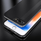 FLOVEME Anti-Slip Carbon Fibre Case For iPhone 7, 7 Plus, 8, 8 Plus, X