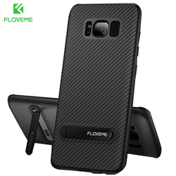 FLOVEME Carbon Fibre Kickstand Case For Samsung Galaxy Phones