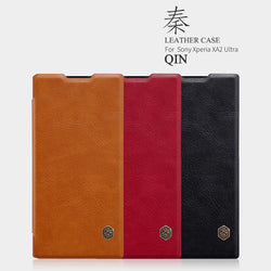 Nillkin QIN Luxury Leather Flip Wallet Case for Sony Xperia XA2, XA2 Ultra