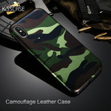 KISSCASE Army Camouflage Phone Case For iPhone 5, 5S, 5C, SE, 6, 6 Plus, 6S, 6S Plus, 7, 7 Plus, 8, 8 Plus, X