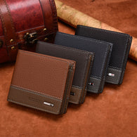 FlashyGram Compact Leather Male Wallet