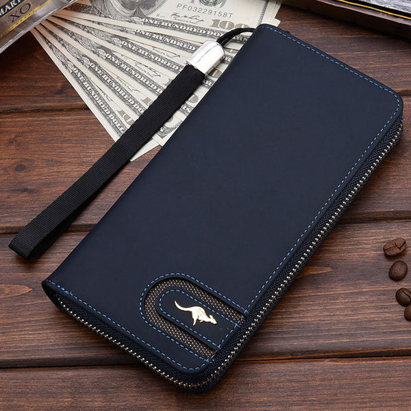 Delidaishu Designer Kangaroo Emblem Long Men's Wallet