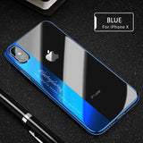 RAXFLY Luxury Transparent Case with Plated Frame For iPhone 6, 6 Plus, 6S, 6S Plus, 7, 7 Plus, 8, 8 Plus, X, XR, XS, XS Max, 11, 11 Pro, 11 Pro Max, Samsung Galaxy S8, S8 Plus, S9, S9 Plus, Note 8