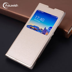 Asuwish Smart Window View Leather Flip Case For Sony Xperia L1, L2, XA, XA1, XA1 Ultra, XA2, XA2 Ultra